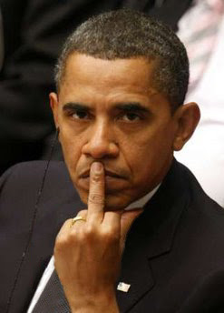 Obama flipping us the bird