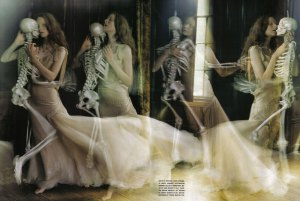 Skeleton Kiss by Tim Walker Photography
